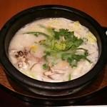 シジャン - 牛すじと季節野菜の食べるスープ ご飯・キムチ・海苔のセットで1080円也♪ 体が暖まった♪