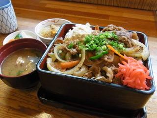 伊志佐岐 - 2014.10)牛焼肉重(860円)