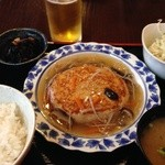 わらしべちょー茶 - 豆腐ハンバーグ定食