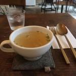 roti cafe - コンソメスープ。