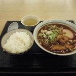 32118566 - 名古屋味噌うどん ごはんセット(460円)