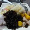 保雲芋圓 - 料理写真:芋圓、タピオカ、それに里芋を甘く煮たものをかき氷にたっぷり!(NTD50)