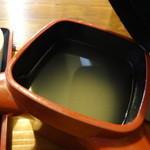 石臼そば - 蕎麦湯