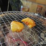 七福 - これを炭火でじっくり焼いていただきました。