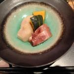 四季彩ダイニング 春 - 蛸と里芋、南瓜の冷し煮物