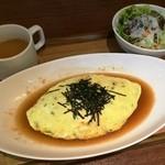 カフェ ド スイドウチョウ - オムライス(和風)780円