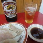 中国料理味味 - 水餃子、ビール