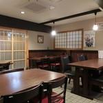 maguroyakitorisuda - 一階のテーブル席
