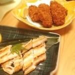 shikiya - カキフライとアナゴの白焼き☺︎