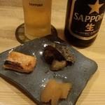 孝 - 中瓶ビール+お通し