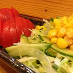 旬采人おしどり - 野菜サラダ 2013.07