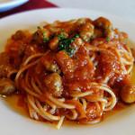ラ・リチェッタ - スパゲティ・イタリアンソーセージのトマトソース