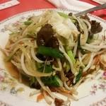 上海飯店 - サービスの野菜炒め