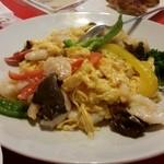 上海飯店 - 玉子と芝海老の炒め