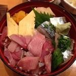海鮮鮨市場 魚がし - ブリと秋刀魚の漬け丼(860)