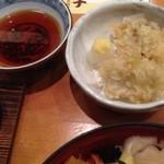 海鮮鮨市場 魚がし - 白子天と茶碗蒸し付き