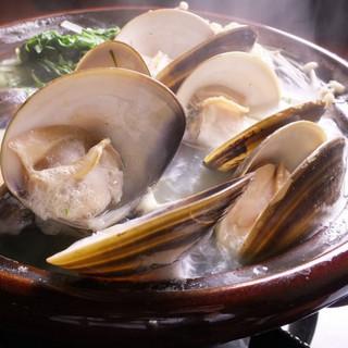 ≪海鮮鍋≫三重県産のハマグリを出汁の効いたしゃぶしゃぶ鍋