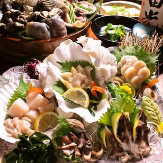 ≪海鮮≫御造り、囲炉裏焼きなど旬をお楽しみください♪