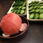 とんちゃんや ふじ - きゅうりとトマト