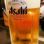 もんじゃ お好み焼き 鉄板焼き ねこ - 生ビール(500円+税)2014.11