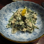ここら屋 - 菊菜の白和え 590円