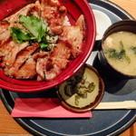 麹蔵 - 黒豚炭焼き丼