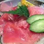 レストラン海斗 - 本マグロ中トロ丼のアップ