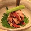 鴨シャブ 竹亭 - 料理写真:鴨ササミ ワサビ和え (2014/10)