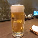 32159179 - 蕎麦前セットの生ビール