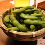 茜鶏 もへじ - 枝豆