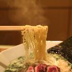 鴨シャブ 竹亭 - 鴨らーめん ロースの麺 (2014/10)