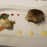 Il Giglio - 黒糖を使ったパンナコッタ 生姜と蜂蜜のアイス