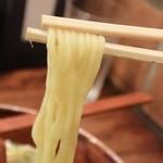 らーめん古潭 - 麺はこんな感じ