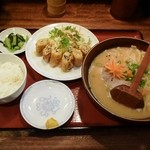 らーめん古潭 - 湯葉春巻定食1000円