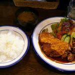 洋食 ひなた - A定食(チキンカツ&豚のしょうが焼き)