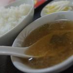 中華料理 栄華 - メシ、漬け物セット