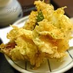 麺ごころ にし平 - ぶっかけおろしうどん(讃岐天)の天ぷら