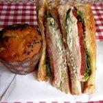 32179172 - メインはチキンとトマトのサンドイッチ!(2014,10/30)