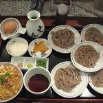 麺酒房 文楽 - 皿蕎麦と親子丼のセット1180円
