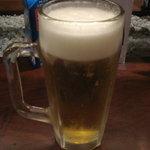 麺酒房 文楽 - ビールはセールで半額270円でした