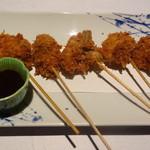 Sakanaya - ぶつ切り鰹たたきの串揚げ(2014年10月)
