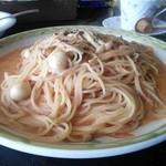モルトヴォーノ - なすとトマトのトマトクリーム(大盛り)