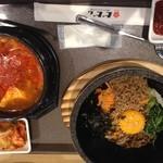 韓国料理 bibim - 石焼ビビムパスンドゥブセット