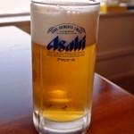 食堂 むてき  - 生ビール