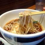 七福弁天庵 - 朝食セットにつく温かい蕎麦