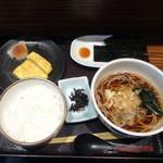 七福弁天庵 - 玉子焼き朝食420円