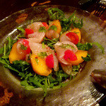 ブラチェリア デリツィオーゾ イタリア - 鯛と柿のカルパッチョ