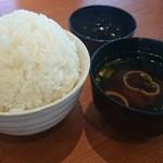 32197211 - ご飯大盛りと味噌汁セット(税込み258円)