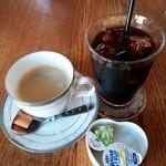 スウィートグラス - セットドリンクのコーヒー&アイスコーヒー 2014.11.