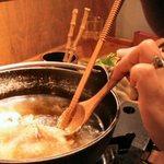 比内や - きりたんぽ鍋(2000円)